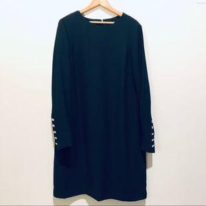 NWOT Talbots Gorgeous Black Lined Sheath Dress 14